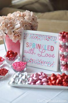 Sprinkled with Love Free Valentine printable | @Mindy CREATIVE JUICE | getcreativejuice.com