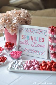 Sprinkled with Love Free Valentine printable | @Mindy CREATIVE JUICE | getcreativejuice.com
