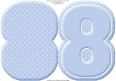 AGE 8 Blank Blue Birthday Shape Card on Craftsuprint designed by Janet Briggs - A very versatile age 8 sheet, which creates a shaped birthday card for an eighth birthday.Simply fold in half and cut out.Add your own embellishments, stamped images etc, customised to the child's interests.Numbers could also be used as the main topper on a standard card, or use to create your own easel cards.Could also be used for Wedding Anniversary cards.This is also available in pink, see multilink below…
