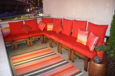 Rooftop Patio Sectional | Do It Yourself Home Projects from Ana White