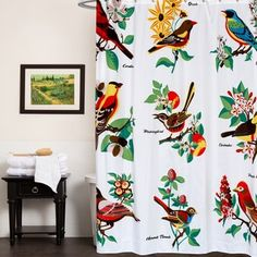 Shop for Bird-patterned Fabric 70-inch x 72-inch Shower Curtain. Free Shipping on orders over $45 at Overstock.com - Your Online Bath