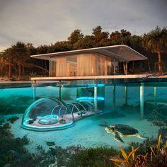 Underwater Bubble in Koh Phangan, Thailand by Rafał Jakubowski Water Architecture, Amazing Architecture, Architecture Design, Floating Architecture, Futuristic Architecture, Underwater Bubbles, Underwater House, Villa Design, House Design