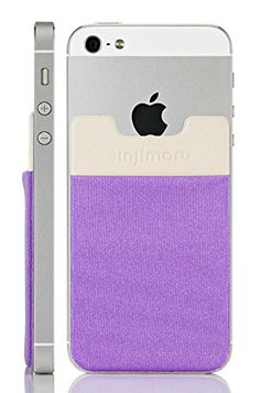 Sinjimoru B3 Stick-On Wallet making Your Smart phone turn into Wallet Case, Case with a Card Holder, Money Clip or Credit Card Case especially for iPhone 4 / 4s / 5 / 5s / 6 / 6 Plus, Galaxy S2 / S3 / S4 / S5, Galaxy Note 1 / 2 / 3 / 4, LG G2 / G3, HTC M8, iPod Touch , Sony Xperia. Sinji Pouch Basic 3 - Light Violet:Amazon:Cell Phones & Accessories