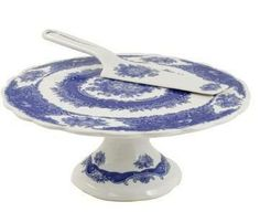 French Country Porcelain Footed Cake Plate  $31.59 www.GlassBottomSpringformPans.com