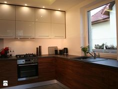 Kuchnie - Średnia kuchnia w kształcie litery l, styl nowoczesny - zdjęcie od ArchLine