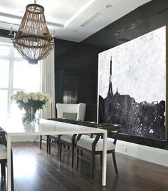 Large Abstract Painting Hand Made Painting por CelineZiangArt