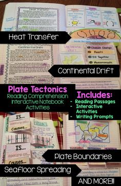 Plate Tectonics Read & Apply: Reading Comprehension Passages, Interactive Activites, and Writing Prompts. PERFECT for integrating literacy and science!! Written for 4-6 grade and lower level 7-8 graders!
