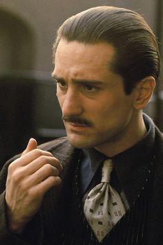 Robert Deniro in The godfather http://mafiosositdown.tumblr.com/post/41685202550