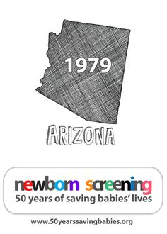 1979: Arizona begins screening all babies born in the state |  Learn more about newborn screening by clicking above #newbornscreening