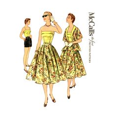 1950s Playsuit Pattern McCalls 3209 Bust 32 UNCUT by CynicalGirl, $58.00