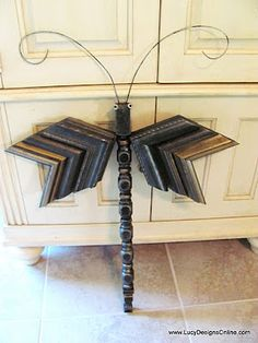 Lucy Designs: Table Leg and Picture Molding Dragonflies