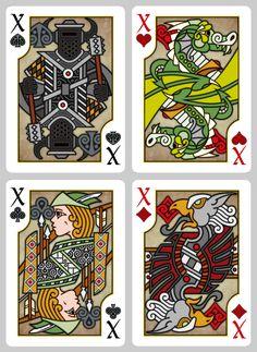 Pippoglyph Playing Cards by BentCastle Workshops, via Kickstarter. #kickstarter #playingcards