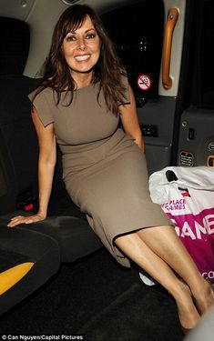 Carol Vorderman and RM by Roland Mouret Pigalle Wool Dress Photograph