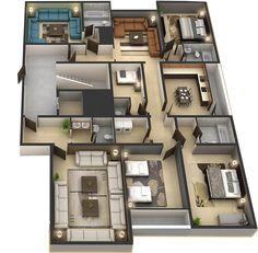 ( الدور الملحق ( نموذج 13 شقة من 6 غرف