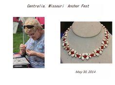 This is Kathy Cornett's photo of a vendor at Centralia, Missouri's Anchor Fest 2014.