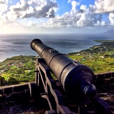 British cannon in St. Kitts