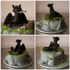 Image result for toothless cake tutorial