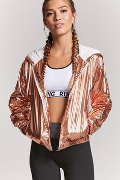 Product Name:Active Metallic Windbreaker, Category:Activewear, Holographic Fashion, Summer Outfits, Cute Outfits, Future Clothes, Athleisure Outfits, Indian Designer Outfits, Cute Jackets, Active Wear For Women, Festival Outfits