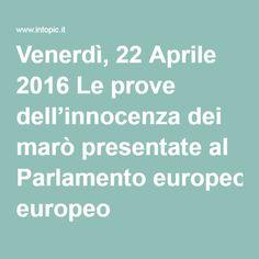 Venerdì, 22 Aprile 2016 Le prove dell'innocenza dei marò presentate al Parlamento europeo