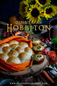 A dinner feast inspired by the parties held in Hobbiton. The recipes are for Hobbit Day and are inspired by the stories by JRR Tolkien and Peter Jacksons The Lord of the Rings and The Hobbit. Pie And Mash, Cottage Loaf, Hobbit Party, Medieval Party, Second Breakfast, Lord Of The Rings, The Hobbit, Hobbit Book, Food Inspiration