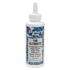 Adhesive, The Ultimate! adhesive. Sold per 4-fluid ounce bottle.