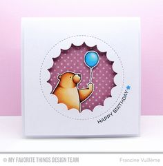 Birthday Bears, Birthday Bears Die-namics, Jumbo Peek-a-Boo Circle Bear Birthday, Birthday Cards, Peek A Boo, Bear Card, Karten Diy, Card Making Inspiration, Inspiration Cards, Style Inspiration, New Baby Cards