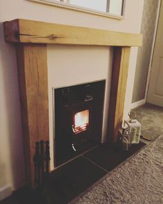This photo was sent in via our customer who purchased our solid oak fire surround from our Ebay shop