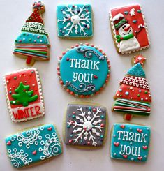 Thank You Christmas cookies