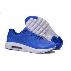 Mens Nike Air Max 1 Ultra Moire CH Shoes Saphire White