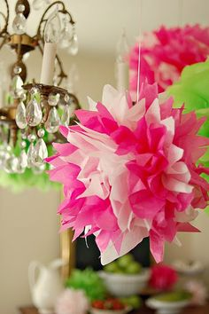 crepe paper flowers - recently bought supplies for these but need  to find time to make some!