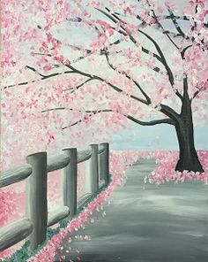 Paint Nite: Discover a new night out and paint and sip wine with friends Spring Painting, Diy Painting, Painting & Drawing, Wine And Canvas, Paint And Sip, Learn To Paint, Pictures To Paint, Tree Art, Painting Techniques