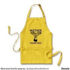 Show your love for mom and bacon this Mother's Day - Yellow Kitchen Apron