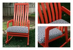 ROCK WHAT YOU'VE GOT! Outdoor Chairs, Outdoor Furniture, Outdoor Decor, Diy Furniture Redo, Solid Oak, Rocking Chair, Home Decor, Chair Swing, Garden Chairs
