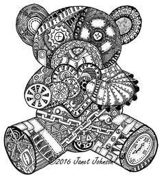Steampunk bear Janet Johnson