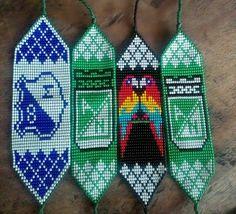Bead Loom Patterns, Loom Beading, Hama Beads, Friendship Bracelets, Embroidery, Diy, Google, Sewing Leather, Loom Bracelets