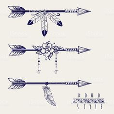 Boho style arrows feathers and flowers royalty-free boho style arrows feathers and flowers stock vector art & more images of abstract arrow tattoo Boho style arrows with feathers and flowers design. Boho Tattoos, Body Art Tattoos, New Tattoos, Small Tattoos, Small Feather Tattoos, Small Arrow Tattoos, Tattoo Ink, Feather Arrow Tattoo, Arrow Tattoo Design