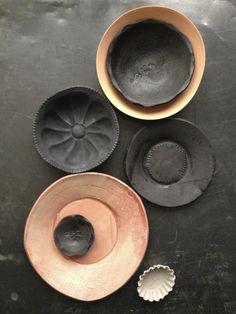 Black and Bright Melon Bowls