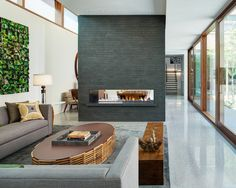 Living Room Stone Divider Wall Design, Pictures, Remodel, Decor and Ideas - page 5