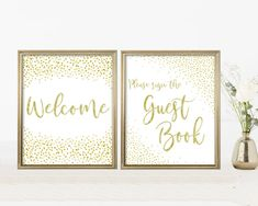 Baby Shower Signs Kit, Printable Set, Editable PDF Template, Gold Confetti, Digital Print, Instant Download, Welcome Sign, Please Sign the Guest book Lds Baptism Program, Drink Signs, Baby Shower Signs, Gold Confetti, Baby Games, Girl Shower, Line Design, Shower Games, Baby Shower Decorations