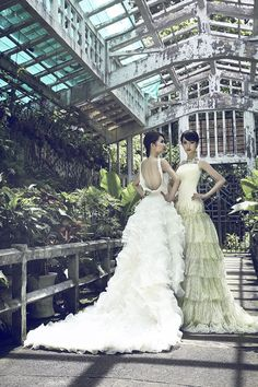 """The Spring/Summer 2013 bridal collection, entitled """"The Stream of Rosiness"""", takes its inspiration from a bouquet of white roses, a reminder of the """"beauty of pureness and sophistication. Wedding Dress 2013, Dream Wedding Dresses, Wedding Gowns, Backless Wedding, Dresses 2013, Girls Dresses, Bridal Collection, Dress Collection, Bride Gowns"""