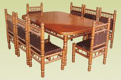 Archaicfair Wooden dining table set price