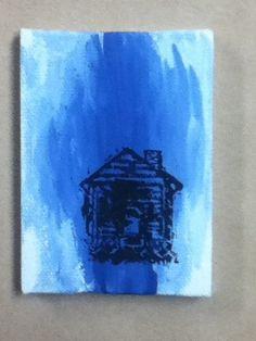 Heartland Home/House Blue Canvas Illustration