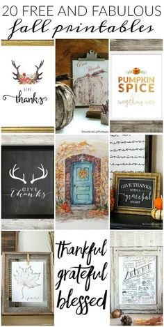 Free and Fabulous Fall Printables Update your home for fall with these fabulous and FREE fall printables! Update your home for fall with these fabulous and FREE fall printables! Fall Crafts, Holiday Crafts, Holiday Fun, Diy Crafts, Design Crafts, Home Decoracion, Happy Fall Y'all, Thanksgiving Decorations, Free Thanksgiving Printables