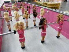 Barbie Foosball, it's almost a little bit creepy