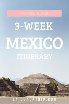 Backpacking around Mexico and want to see more than hotel resorts? Read our ultimate three weeks Mexico itinerary, which will take you from Mexico City … Travel Advice, Travel Guides, Travel Tips, Places To Travel, Cool Places To Visit, Travel Destinations, Tulum Ruins, Mayan Ruins, Famous Beaches