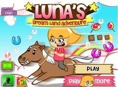 لعبة لونا وركوب الخيل لعبة حلوة من العاب رياضية الرائعة جداً علي العاب فلاش ميزو.