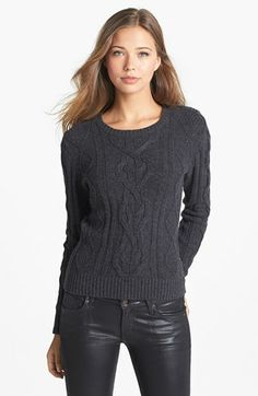 Caslon® Cable Knit Sweater available at #Nordstrom - open to other colors. Cream?