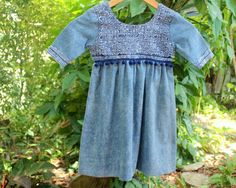 Ecofriendly Little Girls Boho Dress In by SiameseDreamDesign