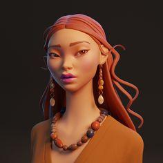 ArtStation - a single eyelids girl, pan yx Princess Zelda, Disney Princess, Great Britain, Disney Characters, Fictional Characters, Concept, Artwork, 3d, Work Of Art