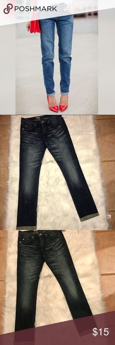 Mossimo denim boyfriend jeans Mossimo denim boyfriend jeans brandnew without tag it says size 00/24 R I'am 24-25, but too big for me fits more like 26-27... Mossimo Supply Co. Jeans Boyfriend